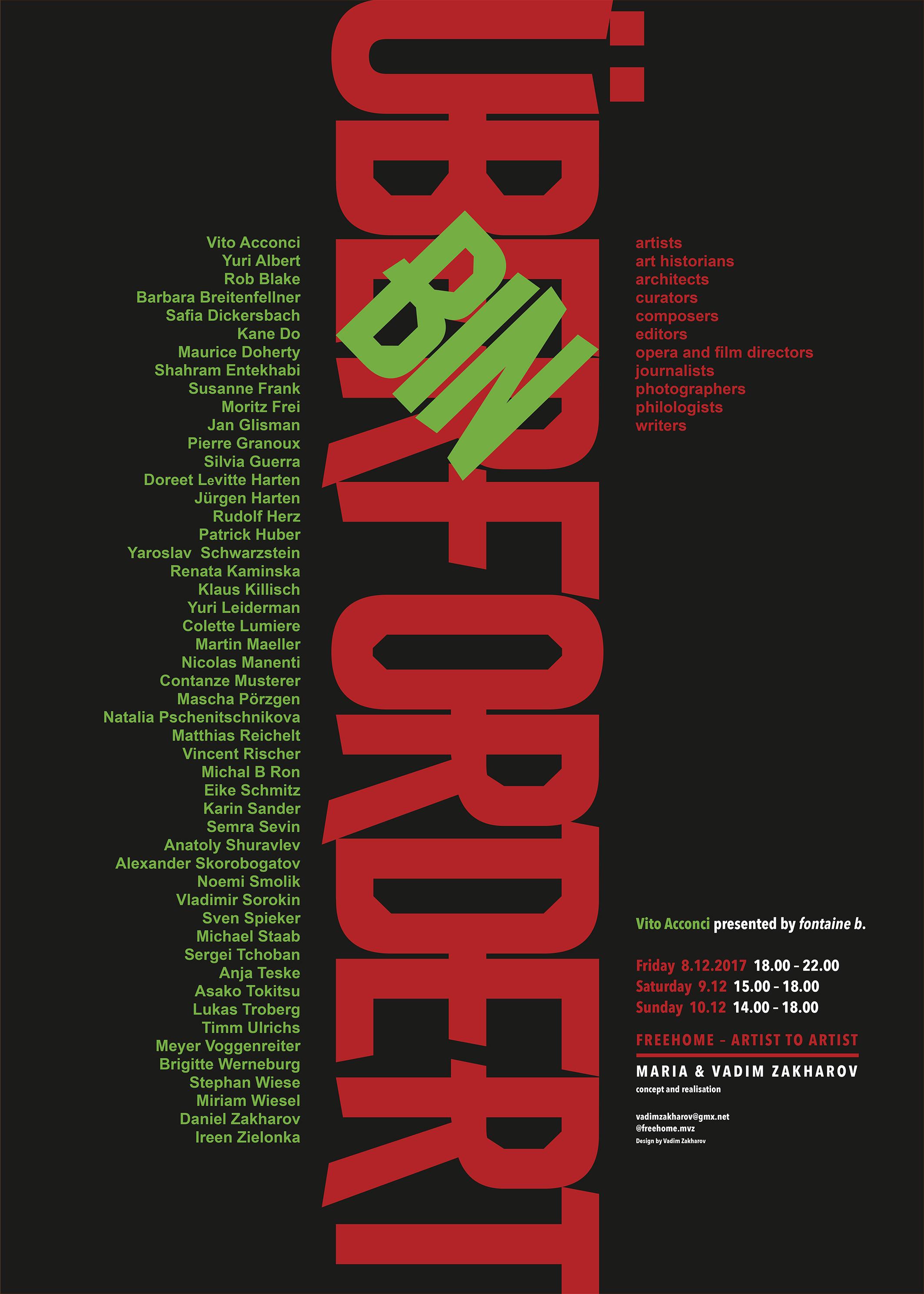 Ausstellung bei Vadim Zakharov, Freehome